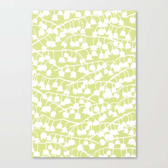 Lily of the Valley repeat Canvas Print