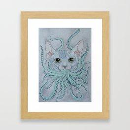 CAThulhu Framed Art Print