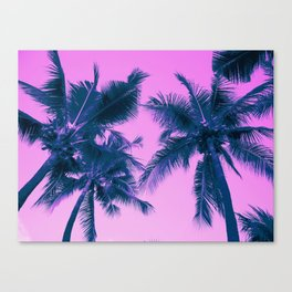Palm Trees Pink Canvas Print