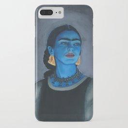Blue Frida iPhone Case