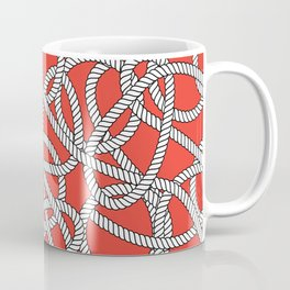 Red Rope Pattern Coffee Mug