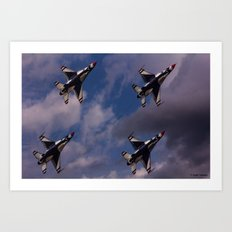 USAF Thunderbirds In Diamond Formation Art Print