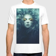 Ink White Mens Fitted Tee MEDIUM