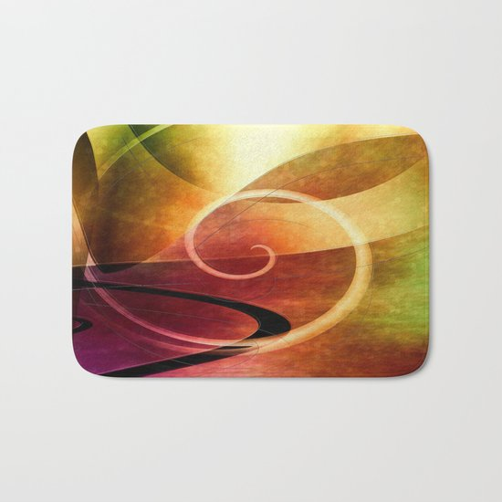 Multicolored abstract 2016 021 Bath Mat