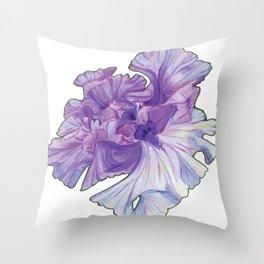 Lace Iris Throw Pillow