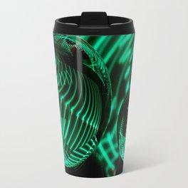 Green strips in the glass Travel Mug