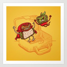 Lunchadores Art Print