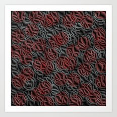 pattern from many circles shiny with metallic effect Art Print