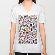 Bug Pattern Unisex V-Neck