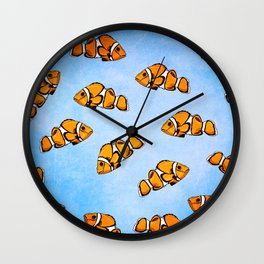 Clownfish Pattern Wall Clock