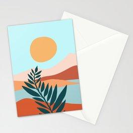 Mediterranean Summer - Maximal Landscape Illustration Stationery Cards