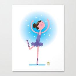 Tiny Ballerina Canvas Print