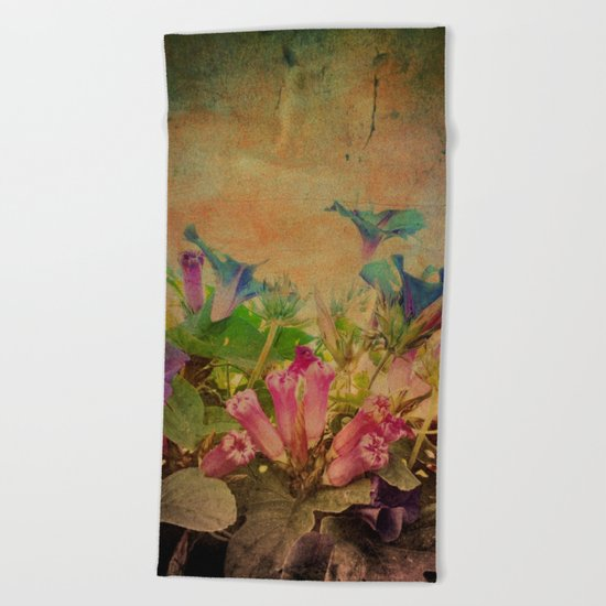 Flowers have music for those who will listen Beach Towel
