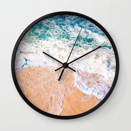 California Waves Rollin Wall Clock