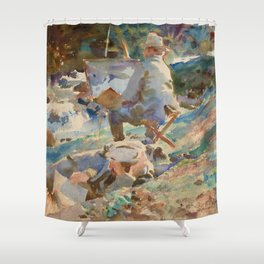 "John Singer Sargent ""An Artist at His Easel"" Shower Curtain"