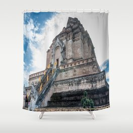 The Chedi of Wat Chedi Luang_Thailand Shower Curtain