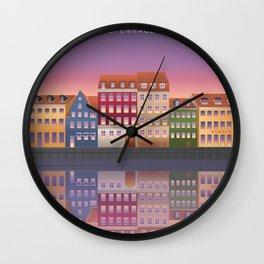 Nyhavn - Copenhagen Wall Clock