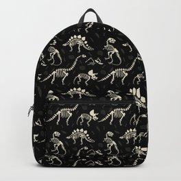 Dinosaur Fossils on Black Backpack
