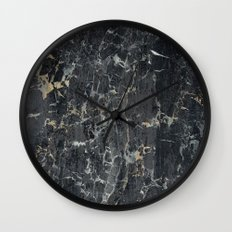 Old black marBLe Wall Clock