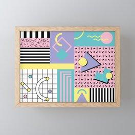 Memphis Pattern 27 - 80s - 90s Retro / 1st year anniversary design Framed Mini Art Print