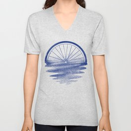 Blue Sunset Mystery Unisex V-Neck