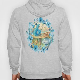 Alice and the Caterpillar - Alice in Wonderland Hoody