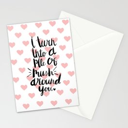 I love you so - Pile of mush Stationery Cards
