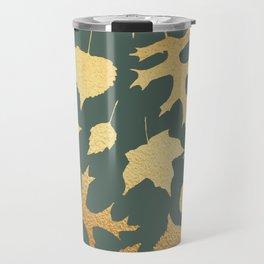 Autumn Elements Pattern (Gold&Sage) Travel Mug