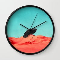 oasis Wall Clocks featuring Oasis by SUBLIMENATION