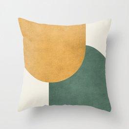 Halfmoon Colorblock 2 - Gold Green  Throw Pillow