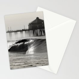 HB Pier North Side (b&w) Stationery Cards