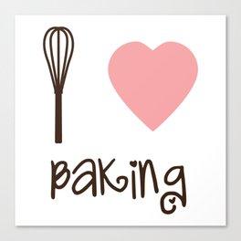 I Heart Baking Canvas Print
