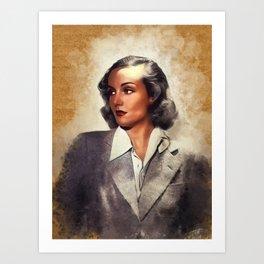 Carole Lombard, Vintage Actress Art Print