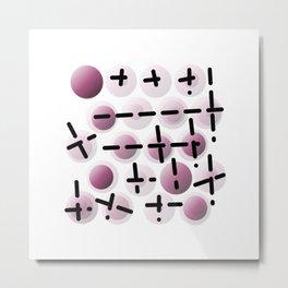 Bubble & line 01 Metal Print