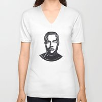 brad pitt V-neck T-shirts featuring Brad Pitt by Alejandro de Antonio Fernández