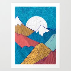 The Crosshatch Sky Art Print