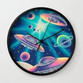 Galaxy Aliens Wall Clock