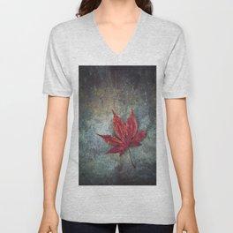 Maple leaf Unisex V-Neck