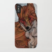 snow iPhone & iPod Cases featuring Red Fox by Ben Geiger