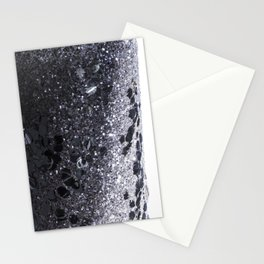 Black and Gray Glitter Bomb Stationery Cards