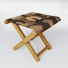 FOR BROWN GIRLS COLLECTION COLLAGE Folding Stool