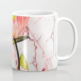 Flowering on pink marble Coffee Mug