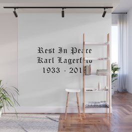RIP Karl Lagerfeld Calligraphy Wall Mural