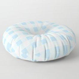 Gingham Light Blue - White Floor Pillow