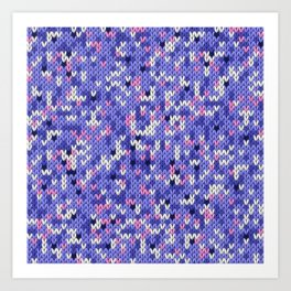 Knitted multicolor pattern 6 Art Print