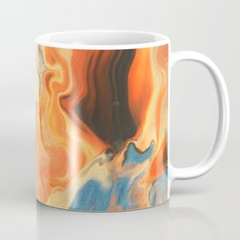 Fluid Nature - Orange Vapours - Abstract Acrylic Pour Art Coffee Mug