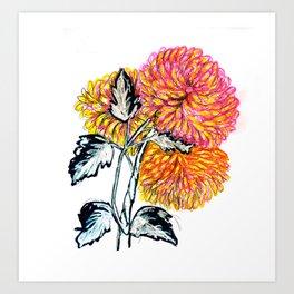 Crisantemo Art Print