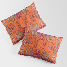 Boho Hippie Garden Pattern Pillow Sham