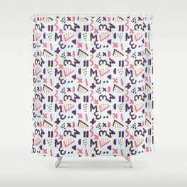 Horrible Patterns ~ Squared 80s Shower Curtain