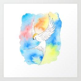 Shatter Me Bird in Flight Art Print